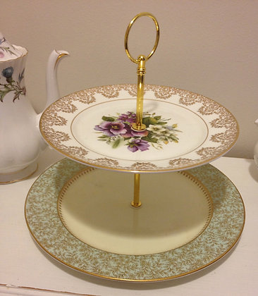 Vintage Two Tier Cake Stand with Fittings