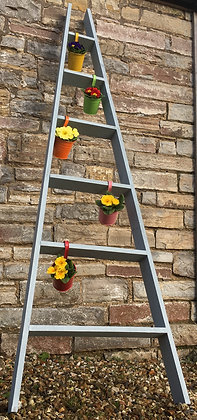 Painted Rustic Garden Display Ladder