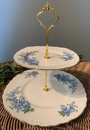 Forget me Not Vintage Two Tier Cake Stand (H)