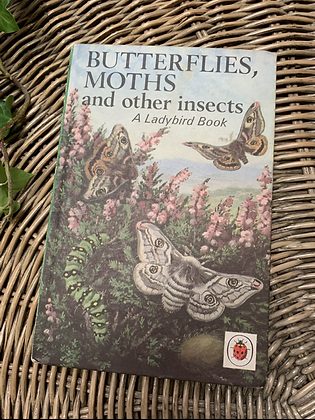Vintage Lady Bird Book - Butterflies, Moths and other insects