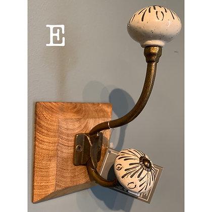 Single Ceramic Hook (E)