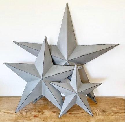 Rustic Metal Barn Stars- Small, Medium or Large