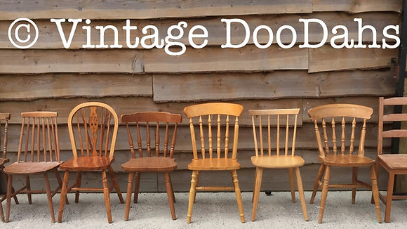 Mix & Matching Unpainted Farmhouse Chairs