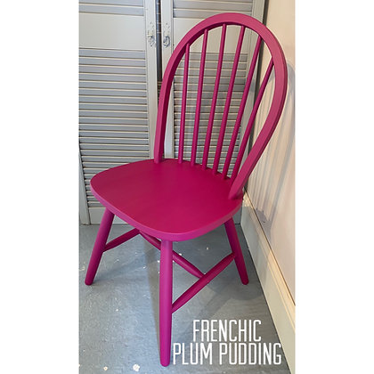 Mismatched Painted Chair - Plum Pudding - Purple