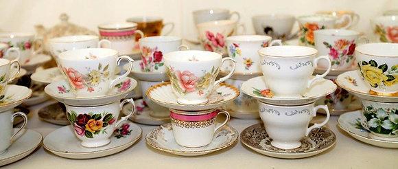 Mismatching Tea Cup & Saucer