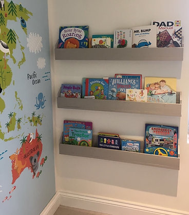 Set of 3 Wall Mounted Pallet Childs Bookcase