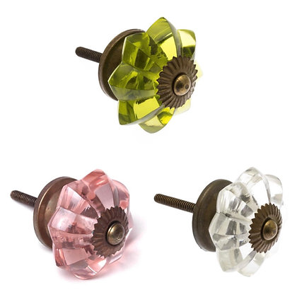 Glass Antique Style Draw Knobs