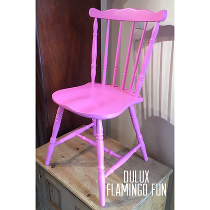 Mismatched Painted Chair - Dulux Flamingo Fun - Bright Pink