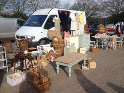 Selling at the Shepton Flea Market