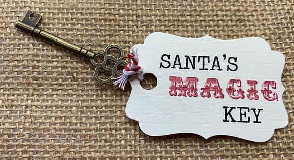 Vintage Style Santa's Key