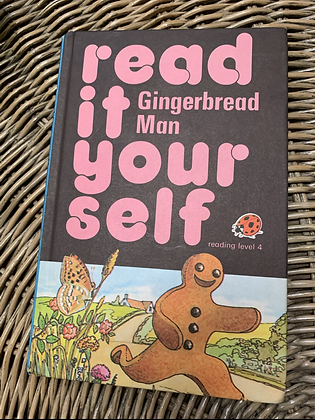 Vintage Lady Bird Book - Read  it Your self - Gingerbread Man