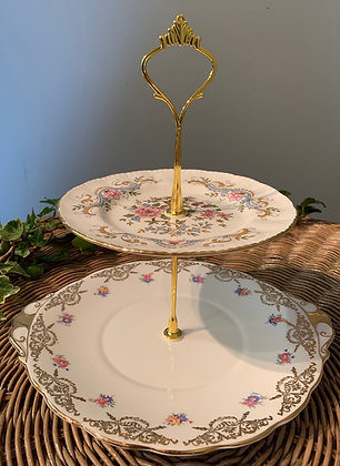 Vintage TwoTier Cake Stand (D)
