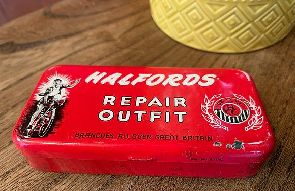 Vintage 1950's Halfords Repair Kit Tin