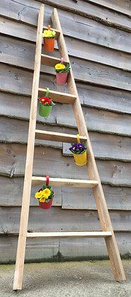 Rustic reclaimed Garden Decorative Ladder