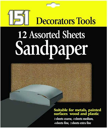 Assorted Sandpaper Multipack - 12 Sheets