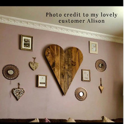 One of our large rustic hearts in place!