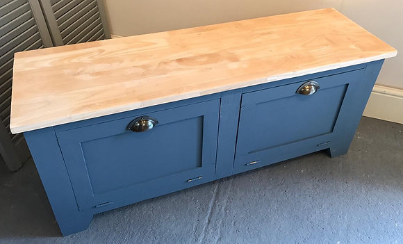 Chunky Painted Hall Storage Bench