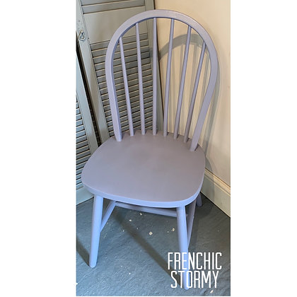 Mismatched Painted Chair - Stormy - Pastel Purple