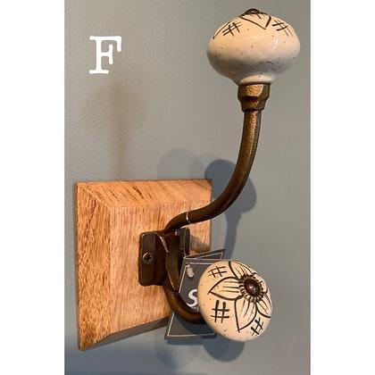 Single Ceramic Hook (F)