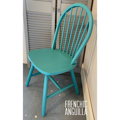 Mismatched Painted Chair - Anguilla - Bright Turquoise