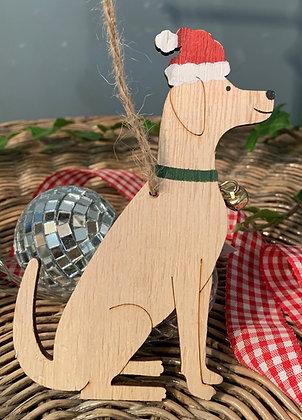 Christmas Labrador Hanging Decoration