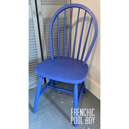 Mismatched Painted Chair - Pool Boy - Blue