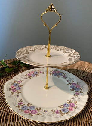 Vintage TwoTier Cake Stand (E)