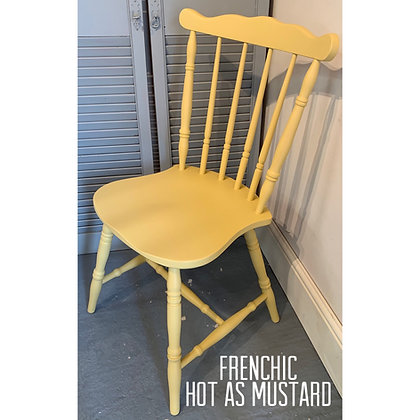 Mismatched Painted Chair - Hot As Mustard -Yellow