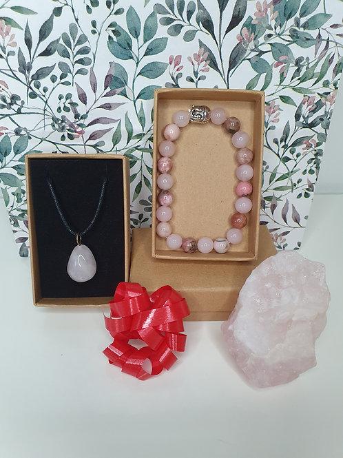 Coffret quartz rose