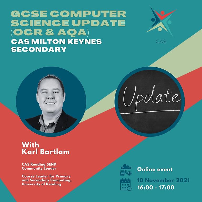 GCSE Computer Science Update (OCR & QAA) - Secondary Computing: Remote