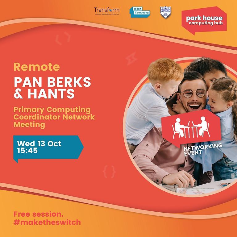 Pan Berks & Hants Primary Computing Coordinator Network Meeting