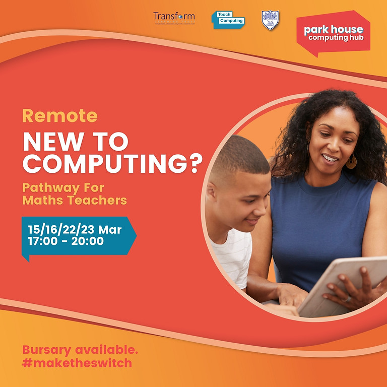 New To Computing Pathway For Maths Teachers - Remote Over Four Days