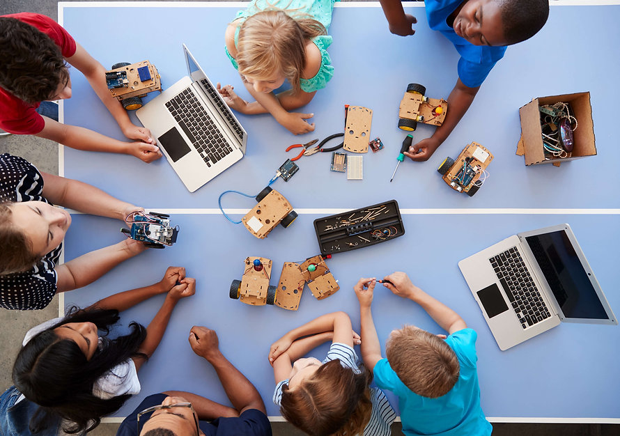 overhead-view-of-students-in-after-schoo
