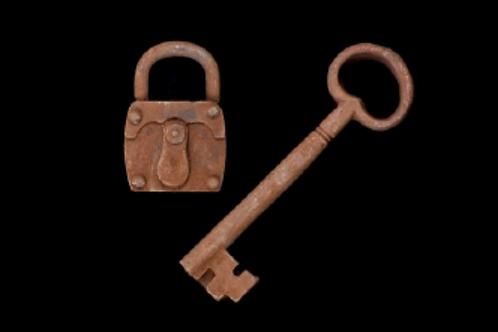 Sleutel met slot
