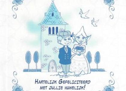 Hartelijk gefeliciteerd met jullie huwelijk!