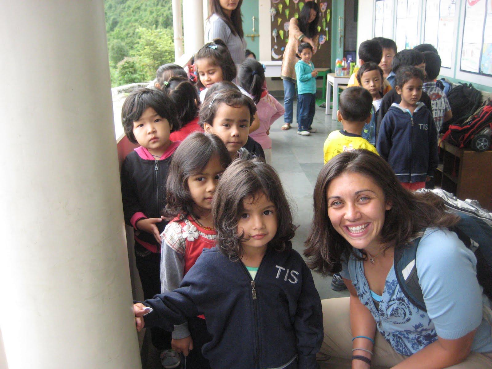 Katie Ryan with students