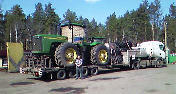 Сельхоз техника 8 перевозка трактора К70