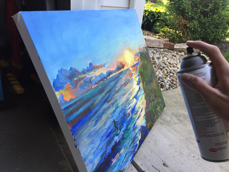How to varnish a painting and WHY it matters!