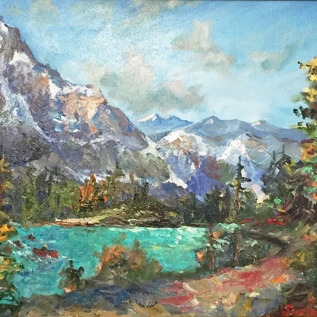 Sunlit Mountain Tops