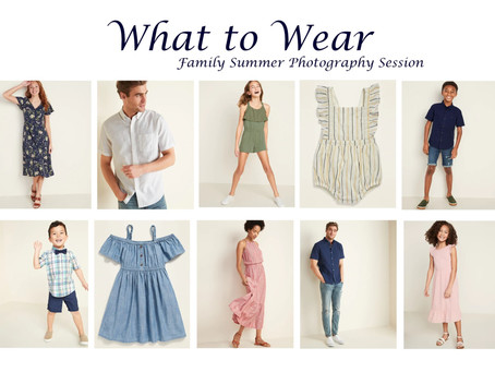 What to wear for your Summer Photography Session