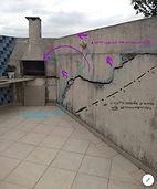 Fissura em parede encontrada em laudo estrutural estudado pela ZIP Engenharia na cidade de São Paulo