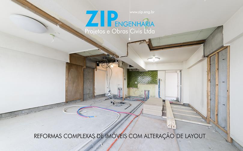 Reforma geral de casa ou apartamento - ZIP Engenharia