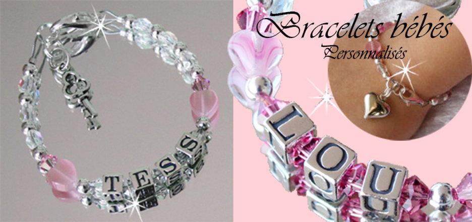 1-1-Bracelets personnalisés bébés argent massif cristaux de swarovski booty for baby.jpg