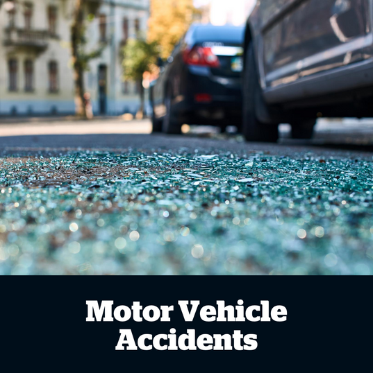 Our  treatment  of  motor  vehicle  accident  injuries,  focuses  on  pain  management,  mobility,  motor  control  and  strengthening  techniques  to  accelerate  rehabilitation.    Typically,  motor  vehicle  accident  injuries  take  time  to  recover  from,  so  a  comprehensive  treatment  plan,  and  early  intervention  is  required  for  the  most  successful  results.
