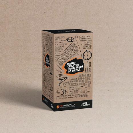 MK Dabbawala packaging