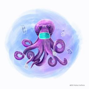 Oceans day octopus