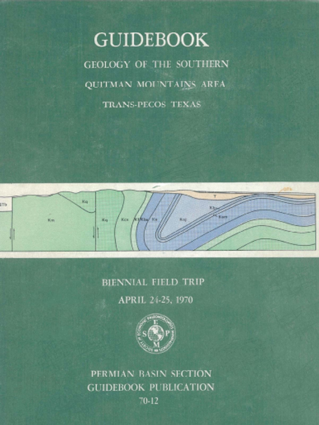 Guidebook - Geology of the Southern Quitman Mountains Area Trans-Pecos Texas