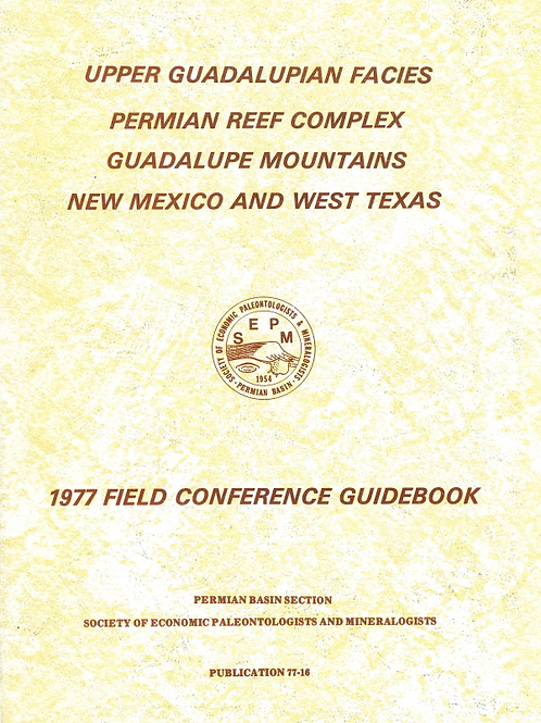 Upper Guadalupian Facies Permian Reef Complex Guadalupe Mountains NM and WT - V1