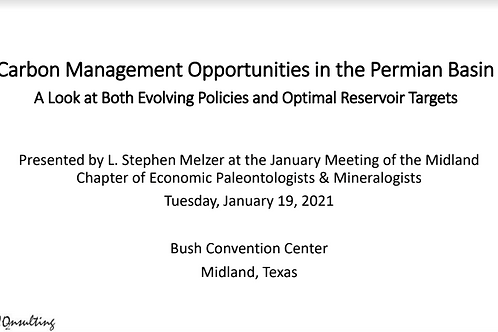 PBS-SEPM 2021 January Luncheon - L. Stephen Melzer