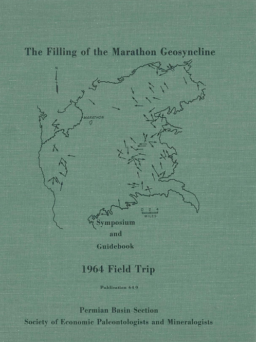 The Filling of the Marathon Geosyncline 1964 Field Trip